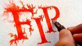 Inkoust pero vytváří paralelní požární účinky
