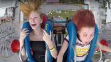 "Two girls on the ""Slingshot"""