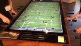 fútbol digital de madera