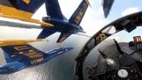 "In interiorul carlinga unui avion al Daydream ""Blue Angels"""