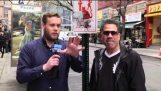 Mann Pfiffe Frauen während der Anti-Catcalling Bericht
