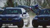 Assista o novo BMW M5 reabastecer meados de deriva para levar dois títulos Guinness World Records ™