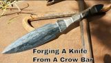 Knife Making – Forging A Dagger Out Of A Crow Bar