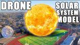 DRONE solsystemet modell- Hur långt är Planet 9?