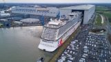 Cruise ship with a go-kart track