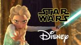 星球大戰 》 迪士尼 – 讓它流 – 讓它去凍結戲仿