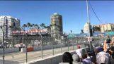 Toyota Grand Prix Stadium Super Truck Crash