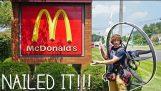 Volar a McDonalds en mi Paramotor