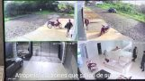 Attacked burglars coming out of his house (Paraguay)