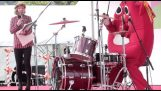 Drummer in a band for children