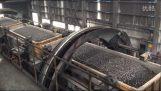 Vaunu kivihiilen tyhjennetään voimalaitoksen