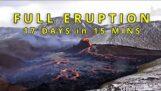 İzlanda volkanik patlamasının güzel zaman atlaması