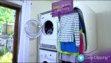 자동으로 옷 주름 기계