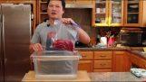 Εύκολη τοποθέτηση τροφίμων σε κενό αέρος