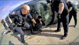 Amikor próbál menekülni az amerikai rendőrség