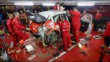 Les ingénieurs Citroën pour réparer la voiture endommagée 3 heures