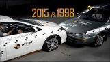 Crash Test: Toyota Corolla του 1998 εναντίον Toyota Corolla του 2015