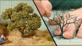 Κατασκευάζοντας ένα δέντρο μινιατούρα για μοντελισμό