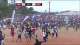 Hilarious goal and frantic celebrations in Tanzania