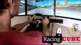 An impressive racing car simulator