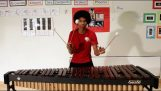 The music of Super Mario in a marimba