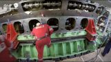 Changing a crank 7,5 tonnes in cruise ship