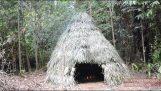 Opførelse af en primitiv hytte