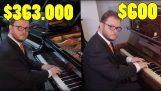 La diferencia entre un barato y un piano costoso