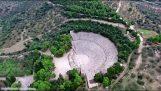 Античният театър Епидавър в снимки от самолет