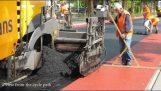 A construção de uma ciclovia na Holanda