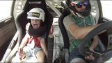 A Dad does drift along with the 5-year-old son