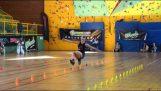 Φοβερό slalom skating από την Klaudia Hartmanis