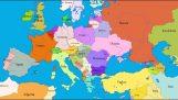 Τα σύνορα της Ευρώπης τα τελευταία 1.000 χρόνια