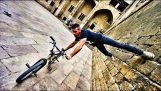 Ποδηλατικό παρκούρ στη Βαρκελώνη