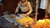Fazer batatas fritas com uma broca