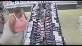 Woman manages to steal nine alcohol bottles