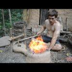 Κατασκευάζοντας ένα φυσητήρα με εργαλεία από τη φύση