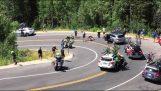 Запеклі зіткнення велосипедист в автомобілі