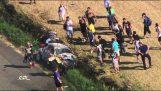 Θεαματικό ατύχημα στον αγώνα Ράλι ERC
