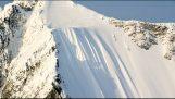 Uno sciatore sopravvive dopo caduta 500 misure