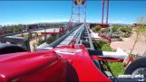 The roller coaster at Ferrari Land coaster makes 0-180chlm / hour at 5/2