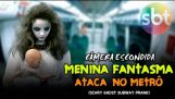 Jente Ghost angrep i Metro (T Prank skummelt spøkelse)