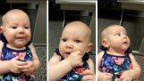 Глухи бебе чувам ' майка s ' s глас за първи път