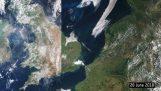 Резултатът от сушата в Европа през последния месец