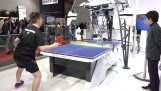 Man vs robot on a game of table tennis