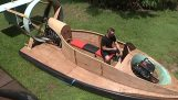 An Australian built a flying hovercraft by himself