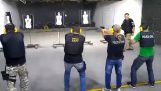 стрелба инструктор с неортодоксален обучение техника