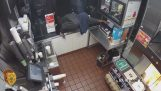 The robber could not open the cash register