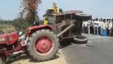 Operation to retrieve a tractor (India)