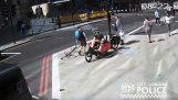 Biker rzuca Headbutt w prozie